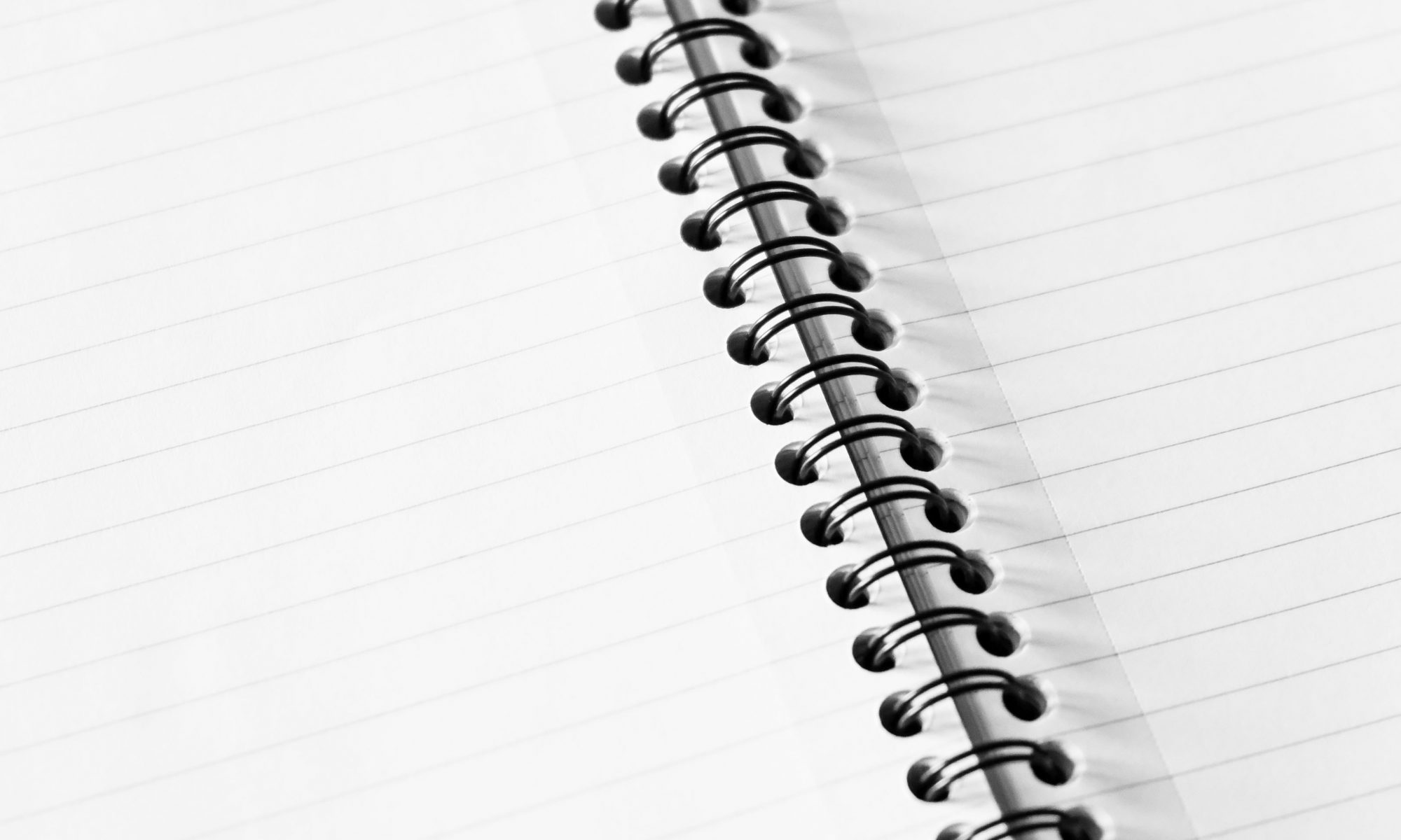 a spiral bound notepad