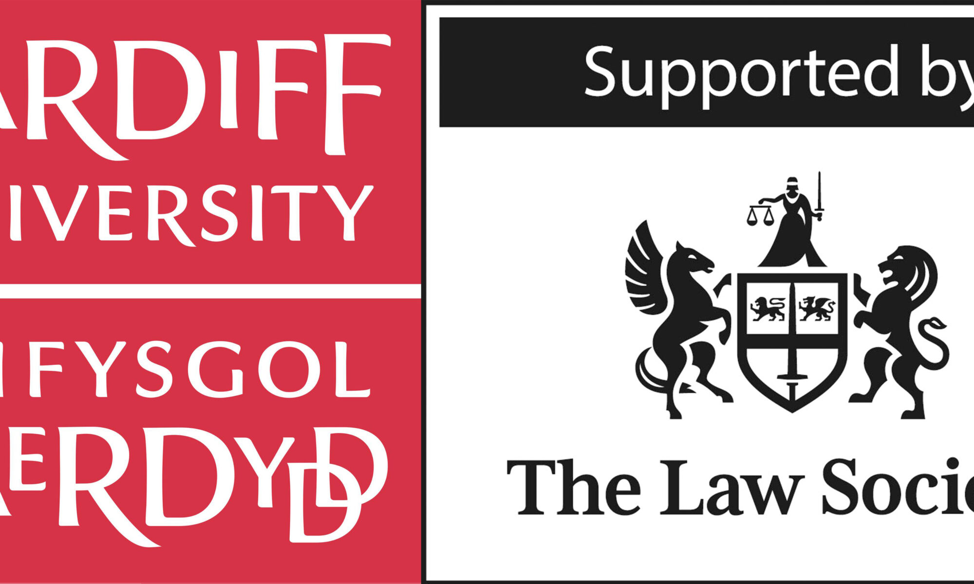 Cardiff University and The Law Society logos